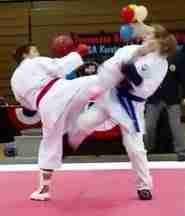 Kumite division winner scores ippon at Tennessee State Championships.