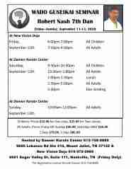 Seminar with Sensei Nash