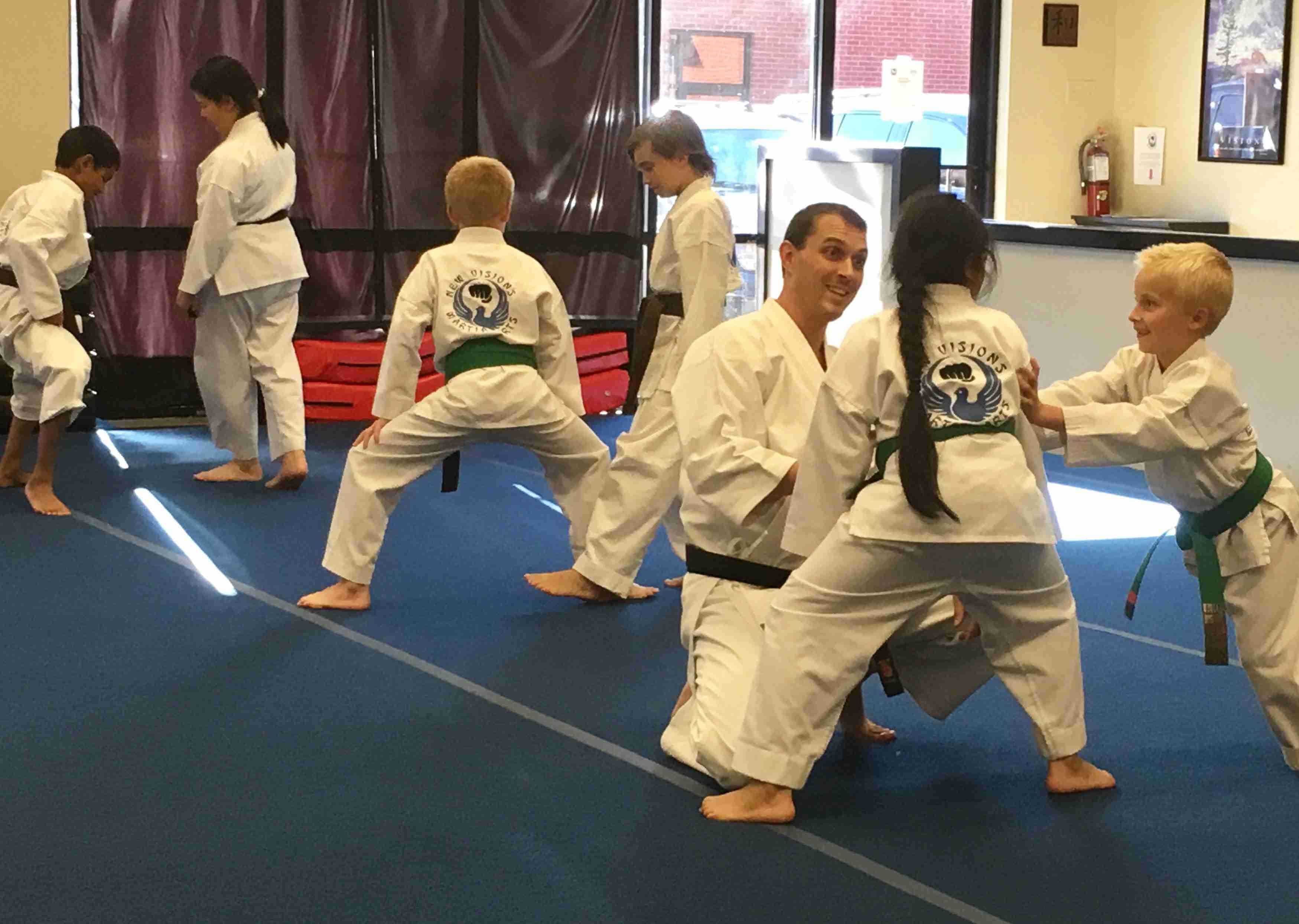 New Visions' kids karate classes.
